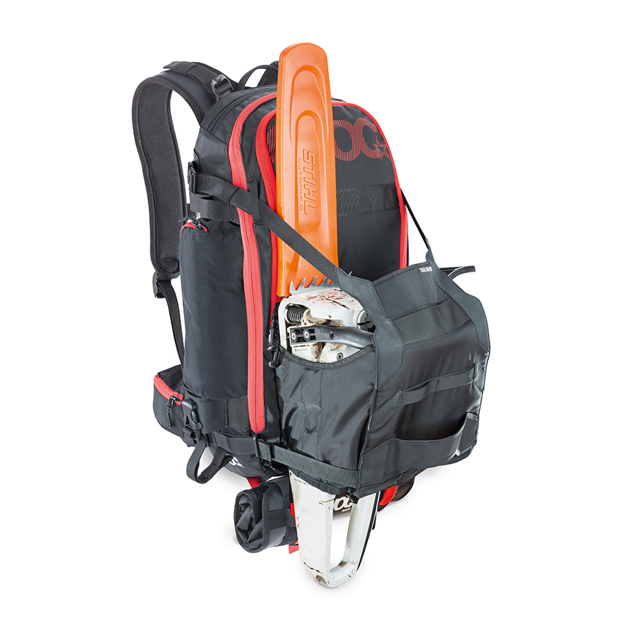 EVOC Trail Builder Ryggsekk Sort, 30L, Med holder for motorsag!