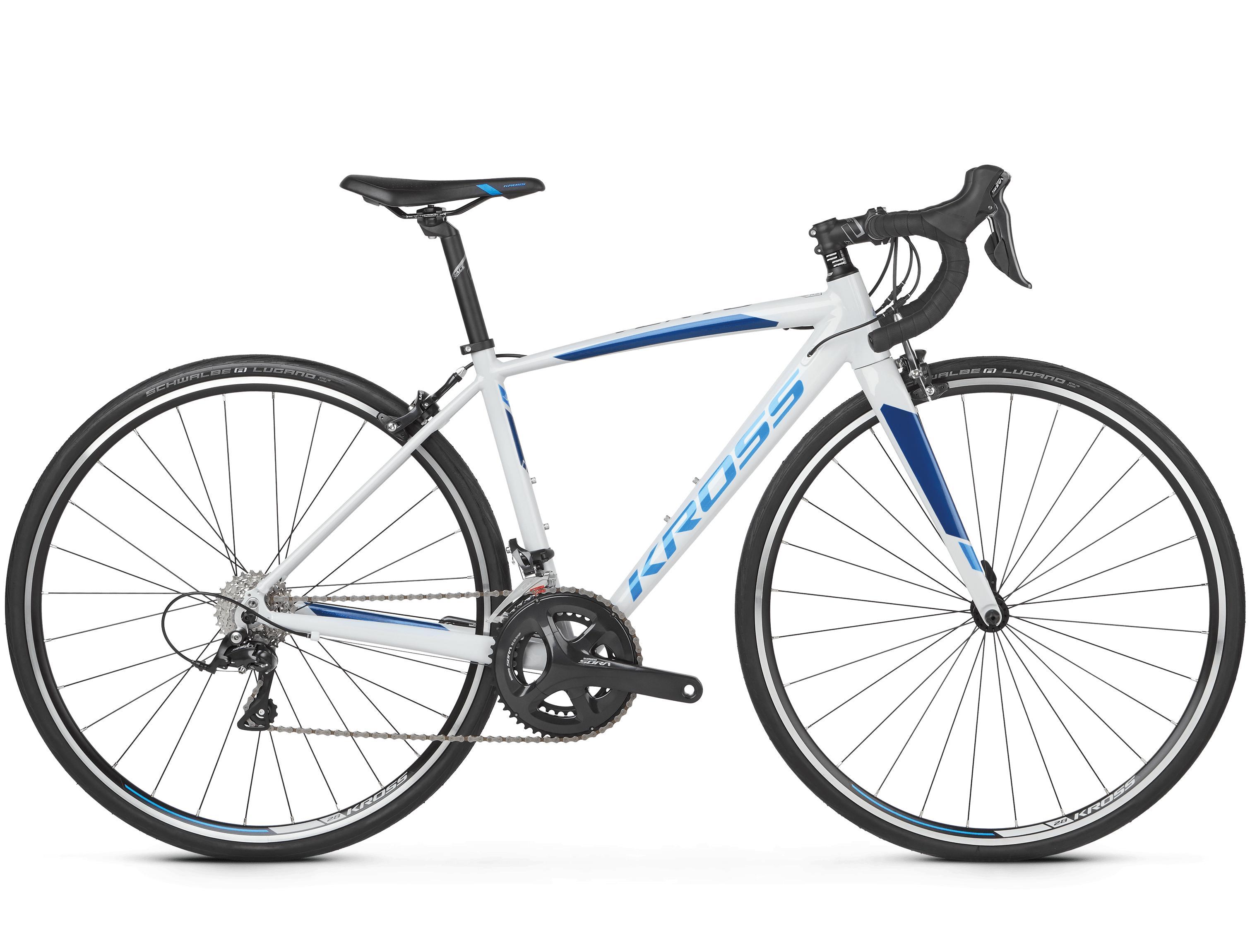 Kross Vento 3.0 Dame Landeveissykkel Hvit/Blå, 18 gir, Shimano, 9,2 kg