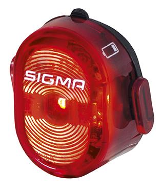 Sigma Nugget II Flash Baklys Rød, Oppladbar, USB, 24 gram