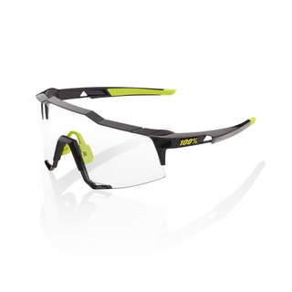 100% Speedcraft Long Lens Glasögon Gloss Black/Photochromic Lens