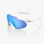 100% Racetrap Briller Hvit - HiPER Blue Multilayer Mirror