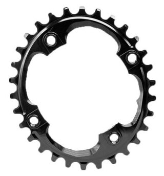 Absolute Black Sram Krankdrev Sort, BCD 4X94mm, Oval