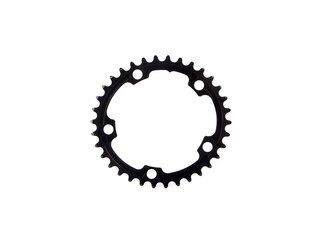 Absolute Black Road Oval Drev Sort, 34T, Sram 110 BCD