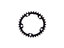 Absolute Black Road Oval Drev Sort, 34T, Sram 110 BCD