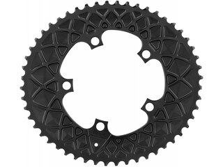Absolute Black Road Oval Drev Sort, 52T, SRAM 5x110 BCD, 2x10/11s