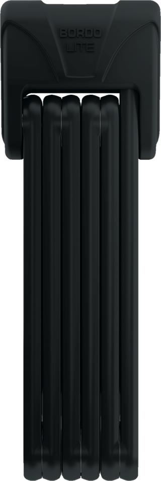 Abus Bordo Lite 6055 Foldbar Sykkellås Sort, Nøkkel, 850 mm, 7/15, 680 gram