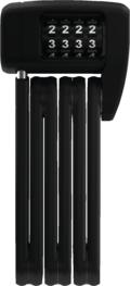 Abus Bordo 6055 Mini Foldbar Sykkellås Sort, Kode, 850 mm, 6/15