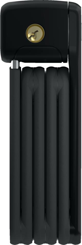 Abus Bordo 6055 Mini Foldbar Sykkellås Sort, Nøkkel, 600 mm, 7/15, 400 gram