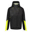 AGU Commuter Tech Regnjakke Sort/Hi-Vis Neon Gul, Str. XL