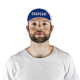 Atlet Frankrike Sykkelcaps Hvit/Blå, One size, Laget i Italia