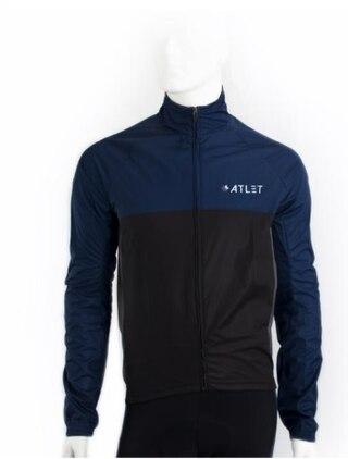 ATLET Pro Regnjakke Sort, Grå og Blå, Vinntett