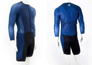 ATLET Pro Skin Suit Blå, Grå og Svart, 3 Lommer