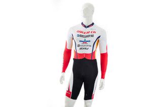 Atlet Asker CK Speedsuit Rød, 3/4 erm. Ny pad!