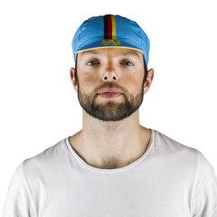 Atlet Belgia Sykkelcaps Blå/Gul, One size, Laget i Italia
