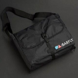 Bar Fly The Daily Courier Bag Svart, Ultra lett og pakkbar!