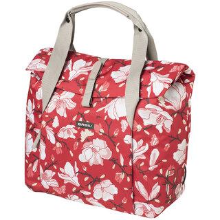 Basil Magnolia Shopper Sideveske Poppy Red, 18 liter