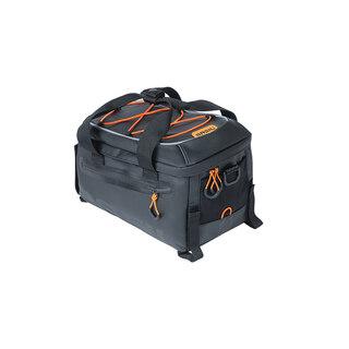 Basil Miles Tarpaulin Trunkbag Sort/Oransje, 7L, Til bagasjebrett