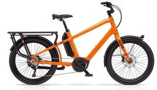 Benno Boost E CX Elsykkel Neon Orange, Bosch Perf Line CX Cargo