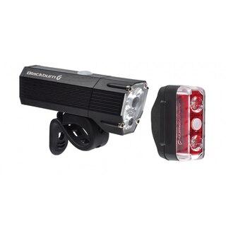 Blackburn Dayblazer 1100+65 Lyssett Sort, 1100 lumen, USB Oppladbar