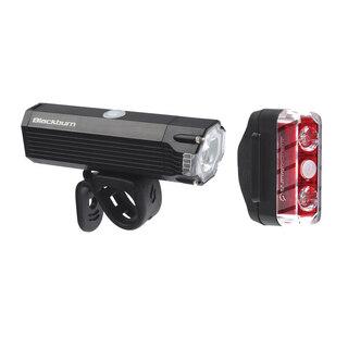 Blackburn Dayblazer 1000+65 Lyssett Sort, 1000+65 lumen, USB Oppladbar