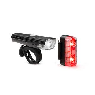 Blackburn Dayblazer 550+65 Lyssett Sort, 550 + 65 lumen, USB Oppladbar
