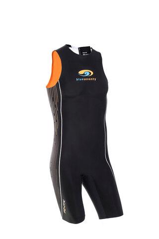 BlueSeventy PZ4TX SwimSkin Tri Suit Sort/Oransje, For konkurranse!