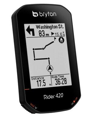 """Bryton Rider 420E GPS Sykkelcomputer 2.3"""" LCD, 80 funksjoner"""