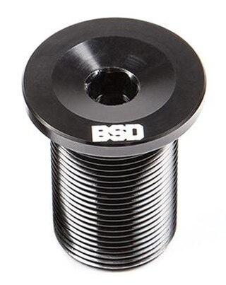 """BSD Acid Fork Top Cap Svart, 1-1/8"""", För BMX, M24"""