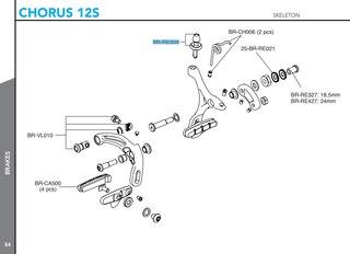 Campagnolo Bremsewire Justerer Chorus 12s skeleton og Direct DM