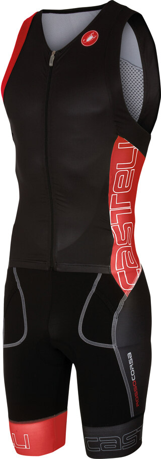 Castelli Free Sanremo SL Tri Suit Sort/Rød, Knallgod tri suit!