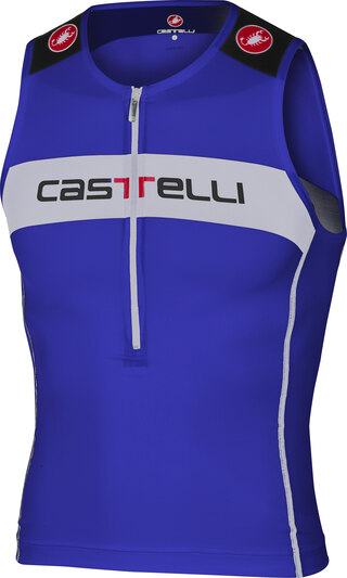 Castelli Core Tri Top Singlet Blå/Hvit