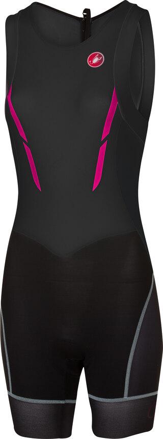 Castelli Short Distance SL Dame Tri Suit Sort/Rosa
