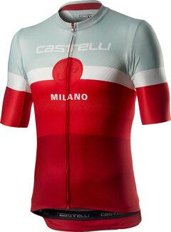 Castelli Milano Kort Sykkeltrøye Rød, Str. M