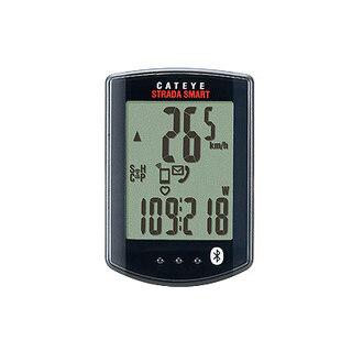 Cateye Strada Smart Sykkelcomputer Sort, Inkl. fart, kadens og puls, 17 g