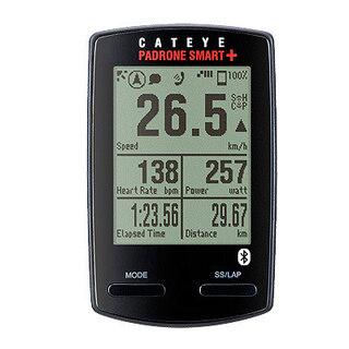 Cateye Padrone Smart+ Sykkelcomputer Sort, Inkl. fart, kadens og puls, 40 g
