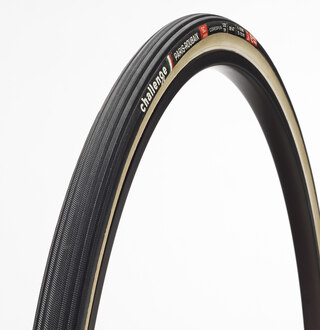Challenge Paris-Roubaix SC S Dekk Sort/Cream, Clincher, 700x27c, 285g