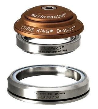 Chris King DropSet 2 Styrelager Matt Bourbon, 42mm / 52mm. 45/45°, Taper