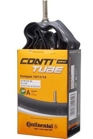 """Continental Compact 10/11/12"""" Slange 44-194 - 62-222, 34 mm bilventil, 95 g"""