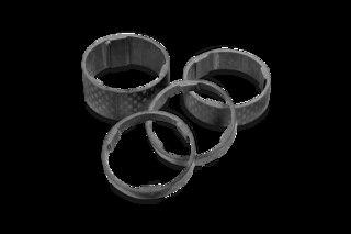 """Cube RFR Spacer Sett Karbon, 1-1/8"""", 5 mm, 10 mm, 15 mm"""