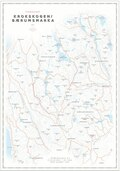 Dapa Maps Krokskogen Sykkelkart 50 x 70 cm, 1:40 000