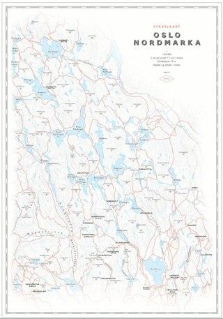 Dapa Maps Oslo/Nordmarka Sykkelkart 50 x 70 cm, 1:50 000