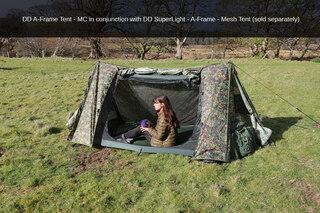 DD Hammocks A-Frame MC Tält Kamouflage färgad, för 2 personer