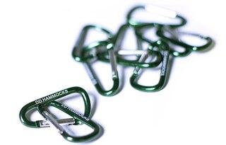 DD Hammocks Mini Karbinhakar Grön, 10 st i en förpackning
