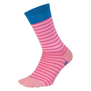 """DeFeet Aireator 6"""" Sailor Sokker Pink/Process Blue, Str. L"""