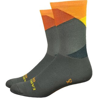 """DeFeet Aireator 6"""" Ornot Sokker Intersection - Olive, Str. L"""