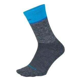 "DeFeet Wooleator Comp 6""' Sokker Gravel Grey/Process Blue, Str. L"