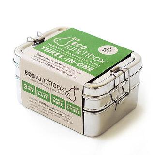 ECOlunchbox Three-in-one Matlåda 1 x 410 ml, 1 x 350 ml, 1 x 145 ml