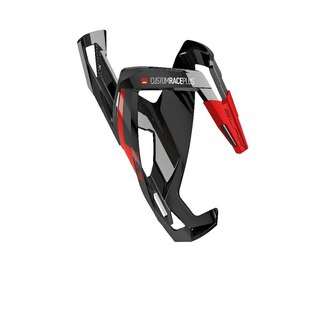 Elite Custom Race Plus Flaskestativ black glossy, light red graphic