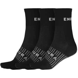 Endura COOLMAX® Race Sokker Sort, 3 pack
