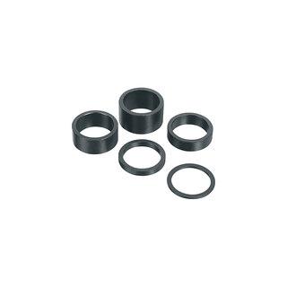 Ergotec 10 mm Spacer Sort, Aluminium, 10g